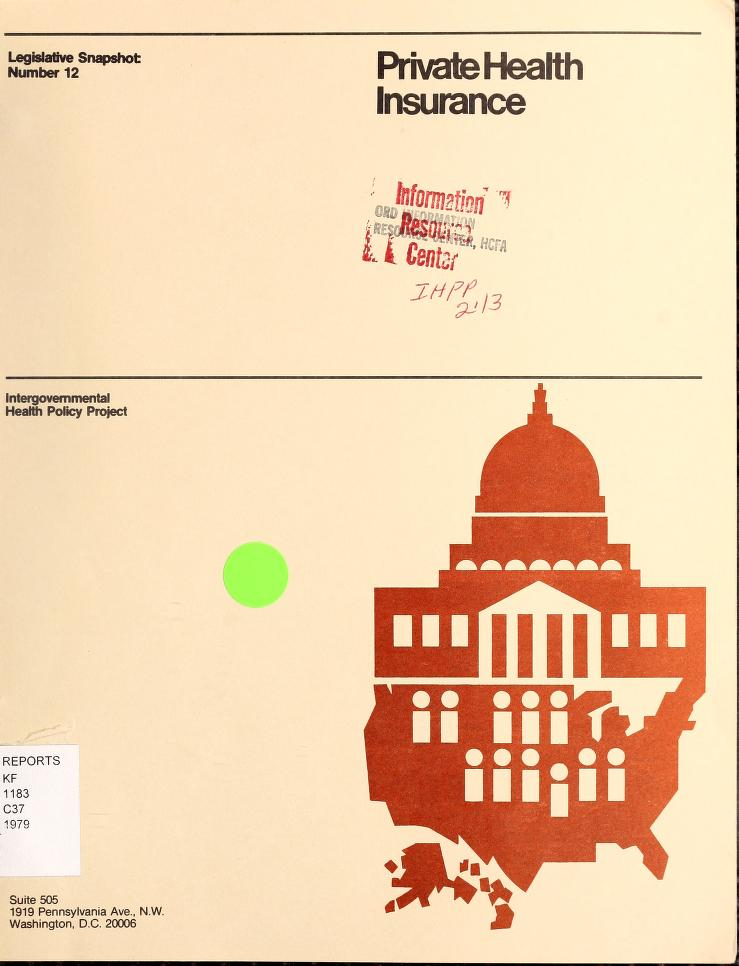 """Peter E Carlin - A """"snapshot"""" of 1979 state health insurance legislation : administrative and fiscal regulation"""