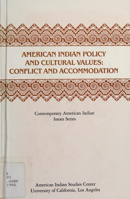 American Indian policy and cultural values by Jennie R. Joe, editor.