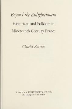 Cover of: Beyond the Enlightnment | Charles Rearick
