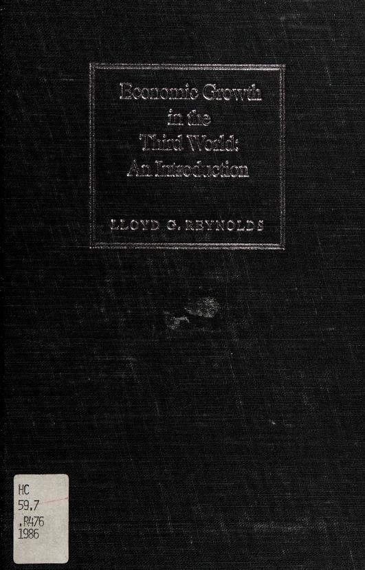 Economic growth in the Third World by Lloyd George Reynolds