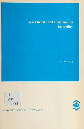 Cover of: Governments and construction instability | Neil Swan