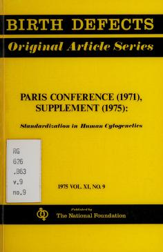 Cover of: Paris conference (1971), supplement (1975) | International Congress of Human Genetics (4th 1971 Paris)